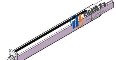 强得力直线式伺服电动缸3D图