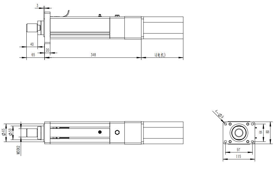 强得力QDA80系列直线伺服电动缸的安装方式
