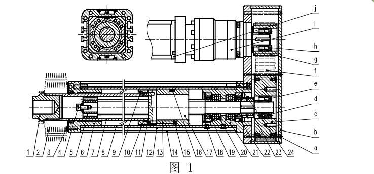 强得力折返式强得力伺服电动缸剖析图